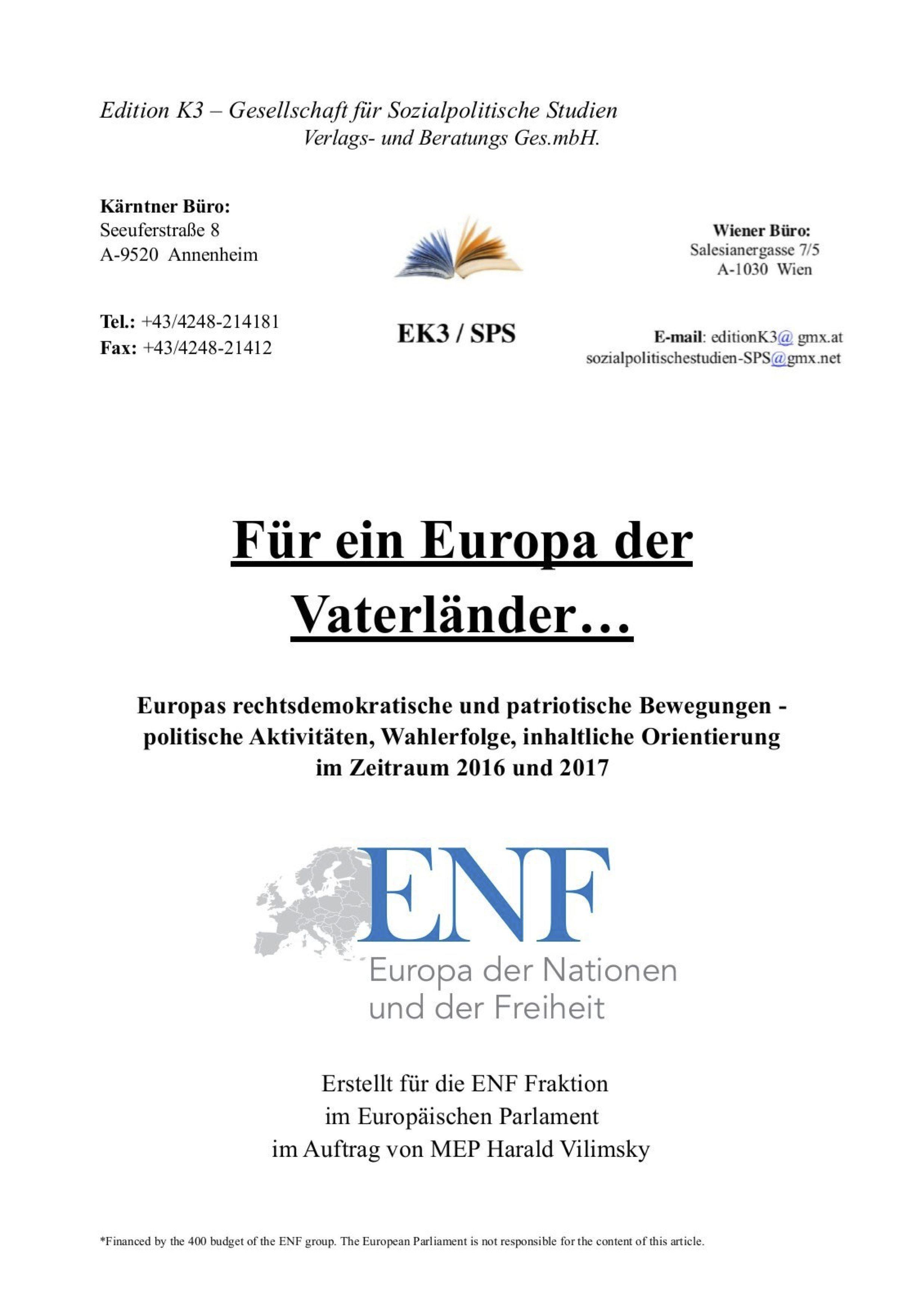 K3-Publikation im Auftrag von Vilimsky, finanziert durch EU-Fraktionsgelder