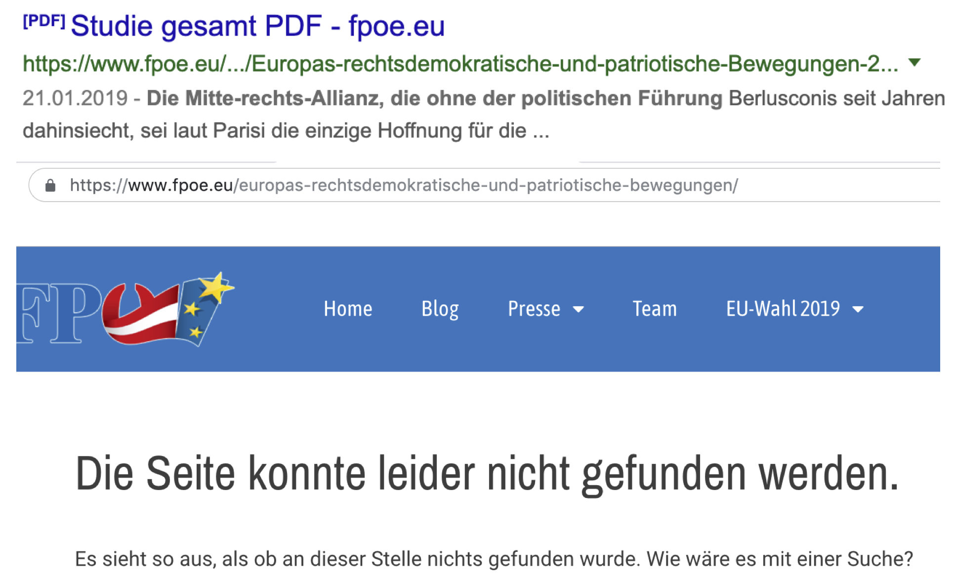 """Vilimsky/K3-""""Studie"""": nach der Standard-Anfrage """"verschwunden"""""""