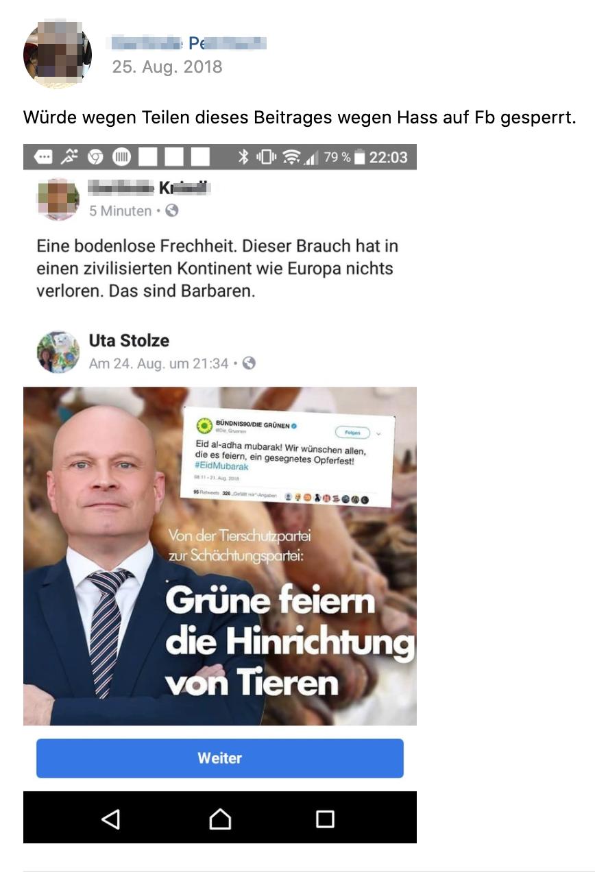 K. auf Facebook gesperrt (Screenshot vk.com)