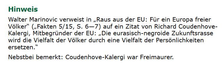 kreuz-net.at: Walter Marinovic – Raus aus EU: Für ein Europa freier Völker