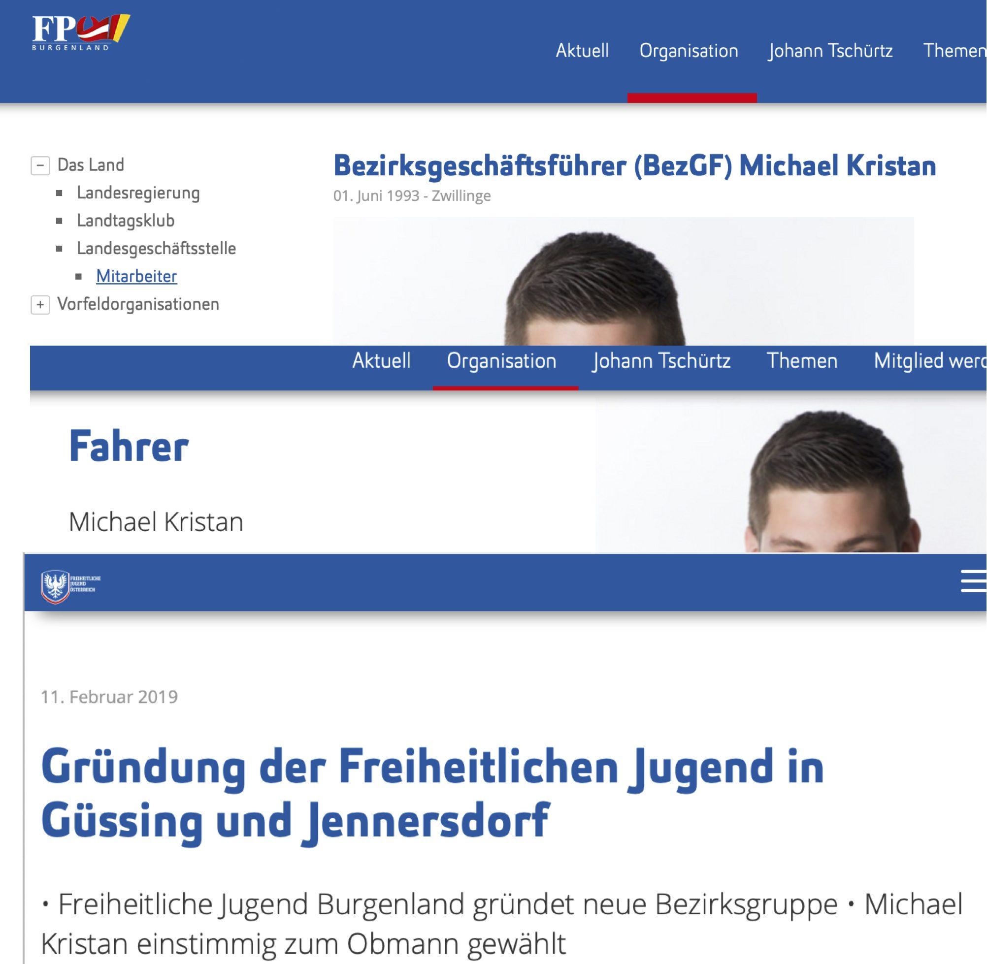 Michael Kristan: Bezrksgeschäftsführer, Fahrer, Obmann RFJ Güssing/Jennersdorf