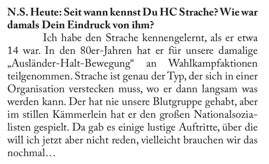 Küssel über Strache (N.S. Heute, S. 20)