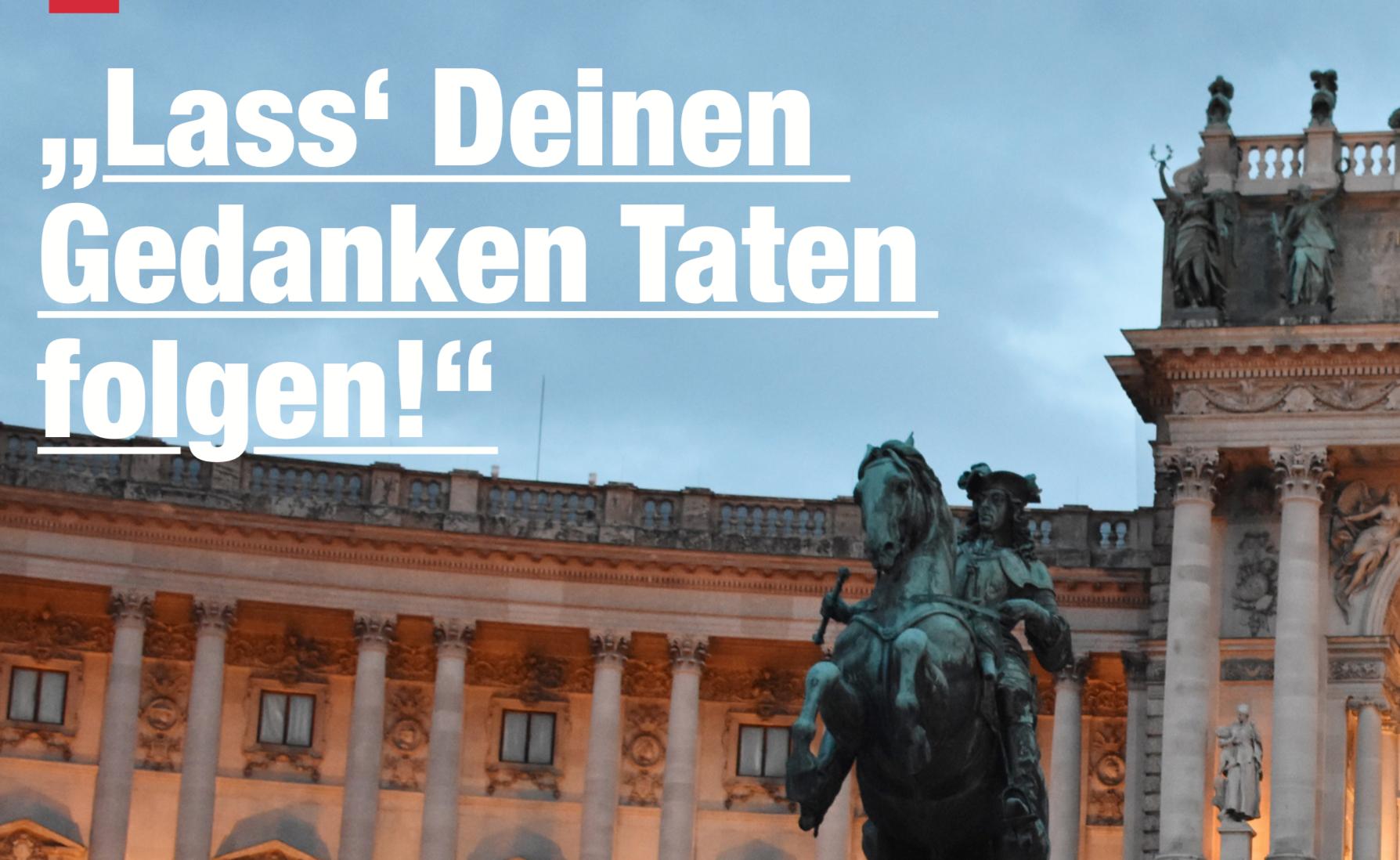 """Titelfoto N.S. Heute, Interview mit Küssel: """"Lass' Deinen Gedanken Taten folgen!"""""""