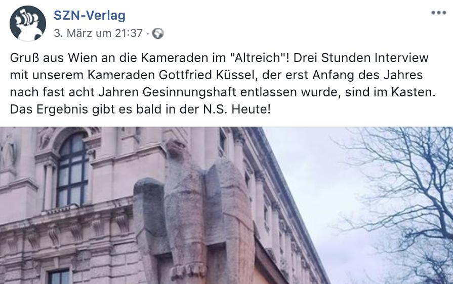 """Gottfried Küssel und """"N.S. Heute"""""""