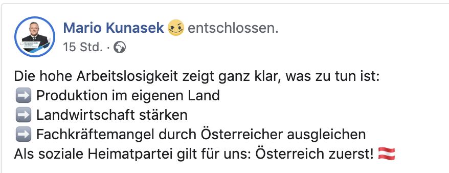 """Die FPÖ will den Fachkräftemangel durch Österreicher ausgleichen – """"Österreich zuerst"""""""
