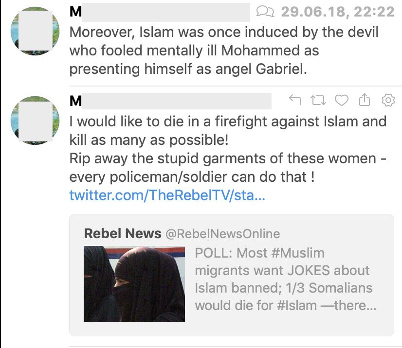 """M.L.: Islamophob und """"Ich will im Kampf gegen den Islam sterben und möglichst viele töten!"""""""