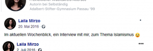 Laila Mirzo: Atterseekreis, Wochenblick, alles roger?