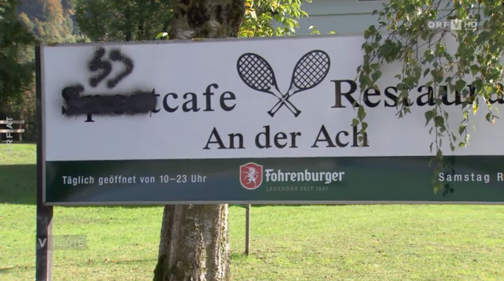 SS-Runen in Lauterach (Screenshot ORF Vorarlberg)