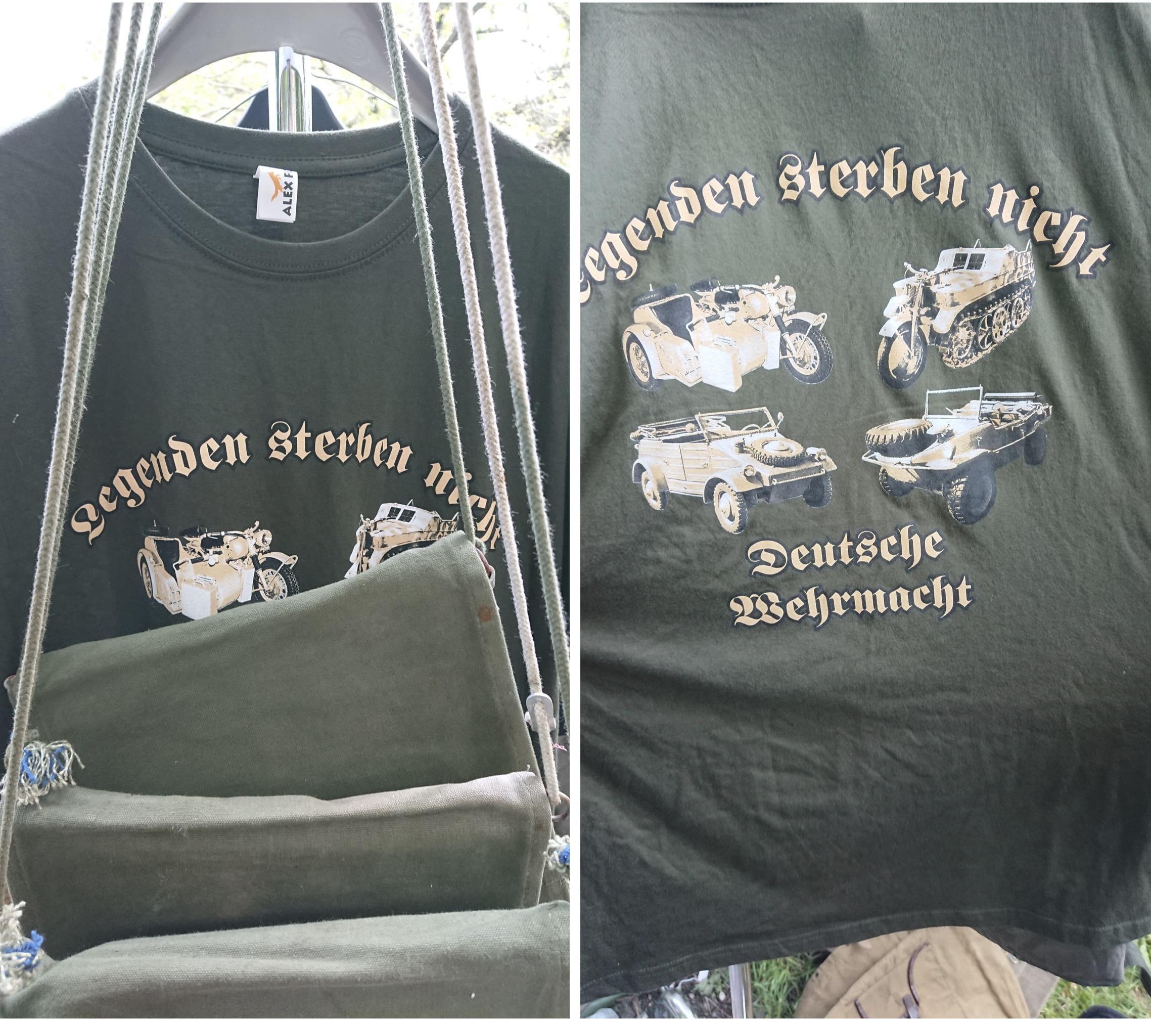 """T-Shirt zum Verkauf: """"Legenden sterben nicht – Deutsche Wehrmacht"""" (© SdR)"""
