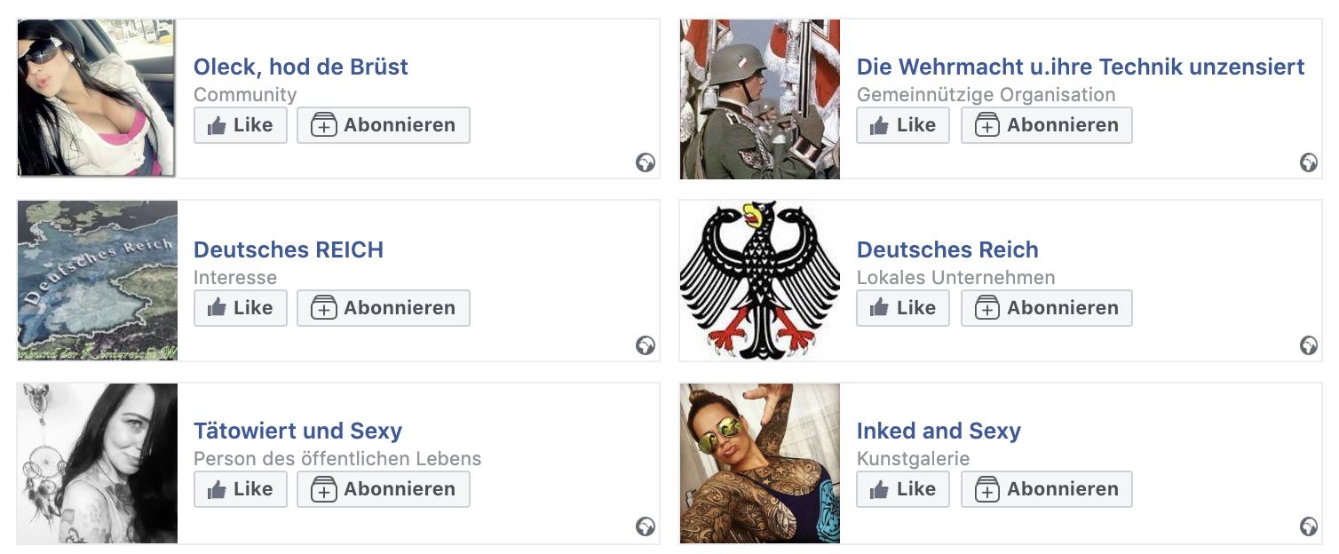 Likes von Steffen B. zwischen Sex, Wehrmacht und Deutsches Reich