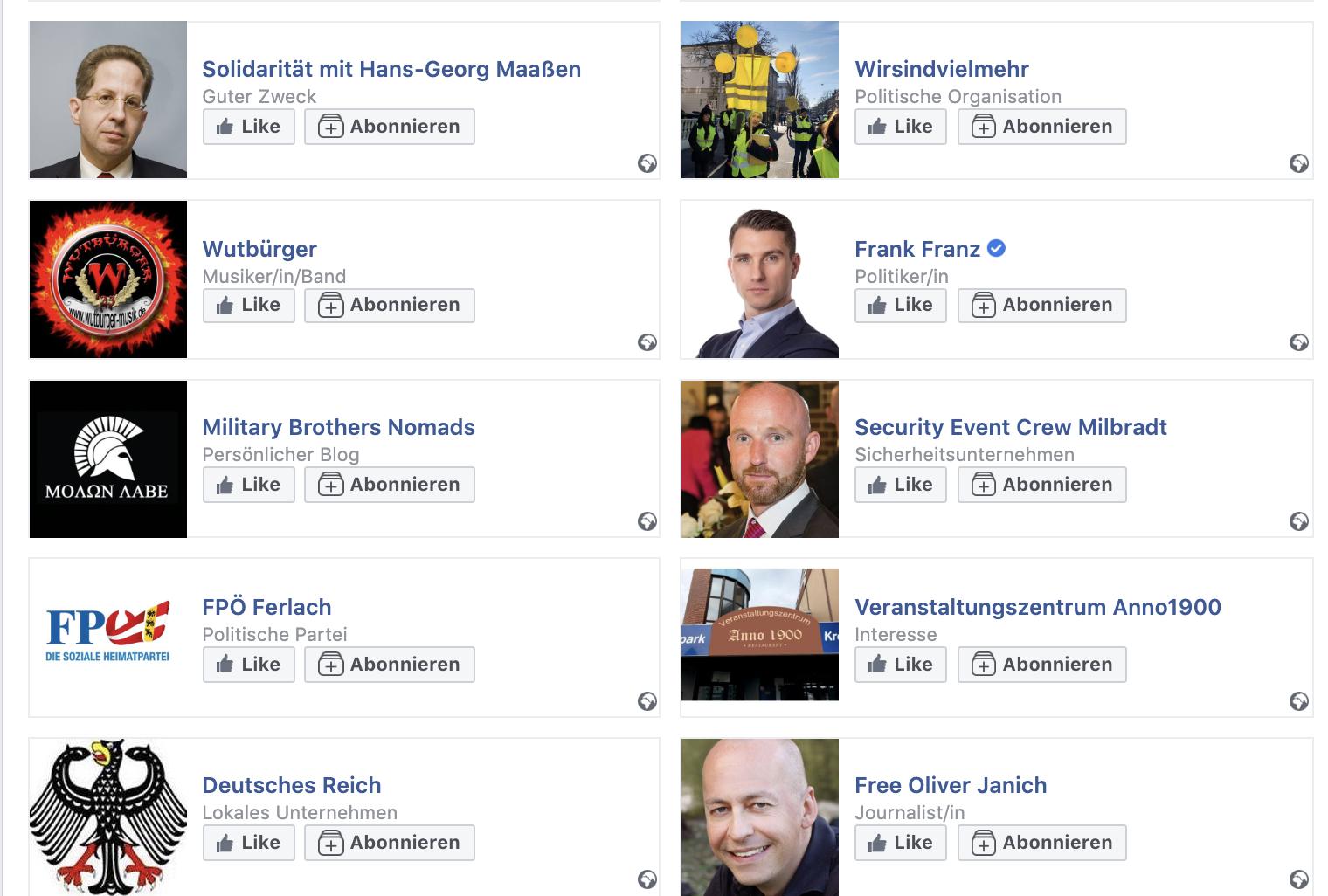 Likes von Tony E. für Maaßen, NDP, Deutsches Reich und die FPÖ Ferlach
