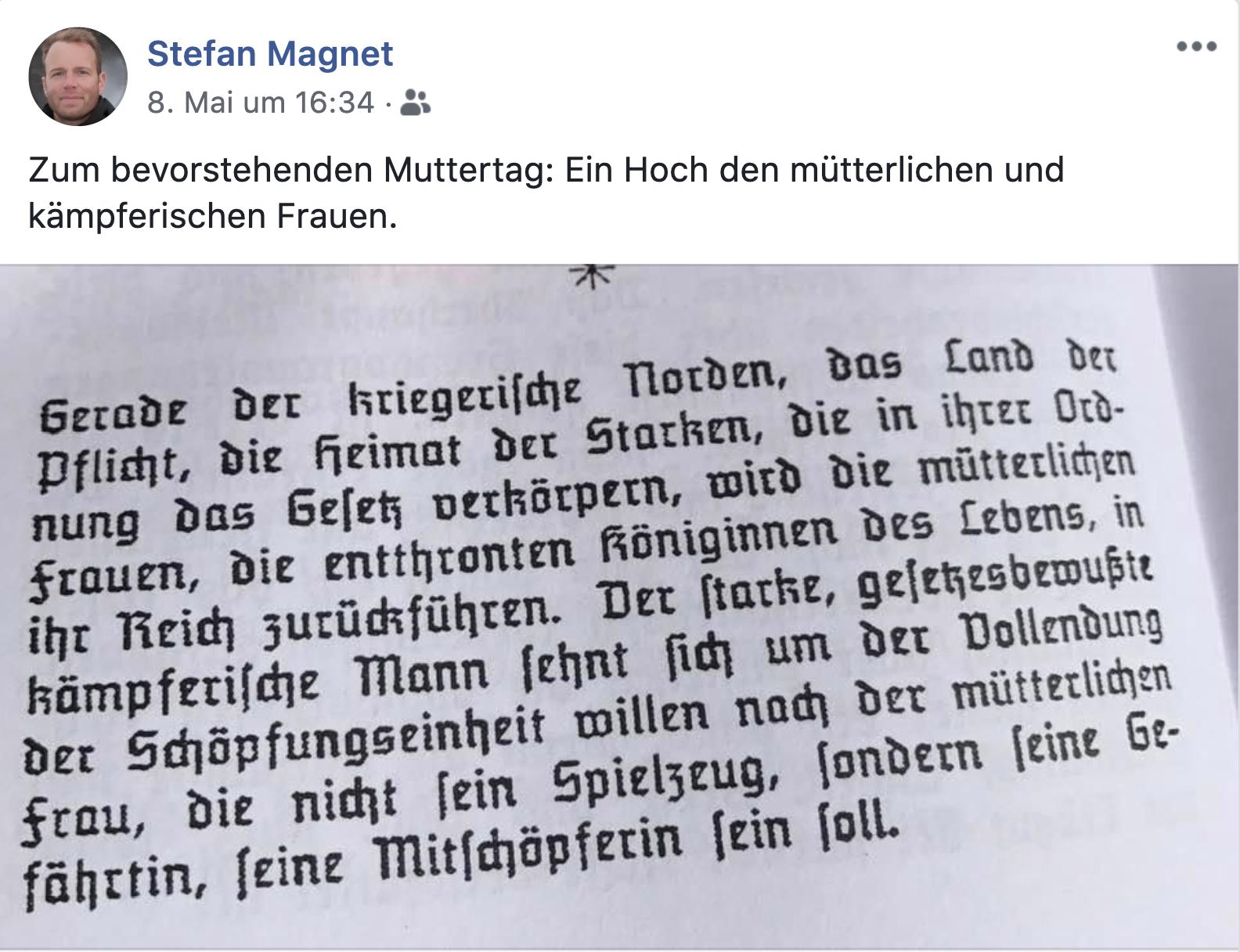 Magnet postet den Nazi-Schriftsteller Kurt Eggers