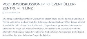 """""""Info-Direkt"""", """"alles roger?"""" und """"Die Tagesstimme"""" zu Gast bei den Identitären in Linz"""