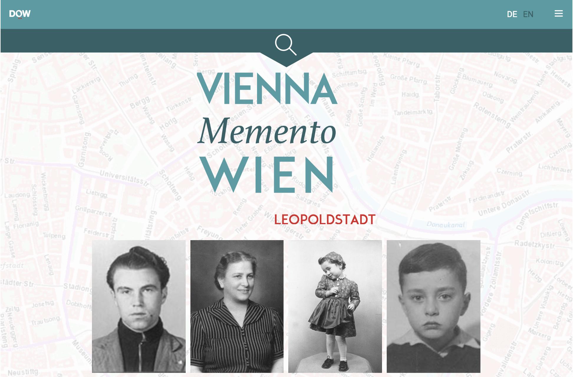 Memento Wien Lopoldstadt (Screenshot Startseite)