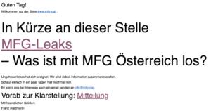 """Ankündigung von """"MFG-Leaks"""""""