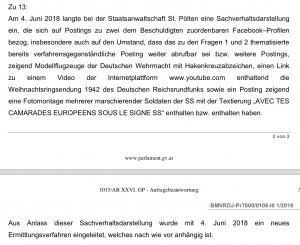 Antwort Josef Moser zu den rmittlungen gegen Michael K.
