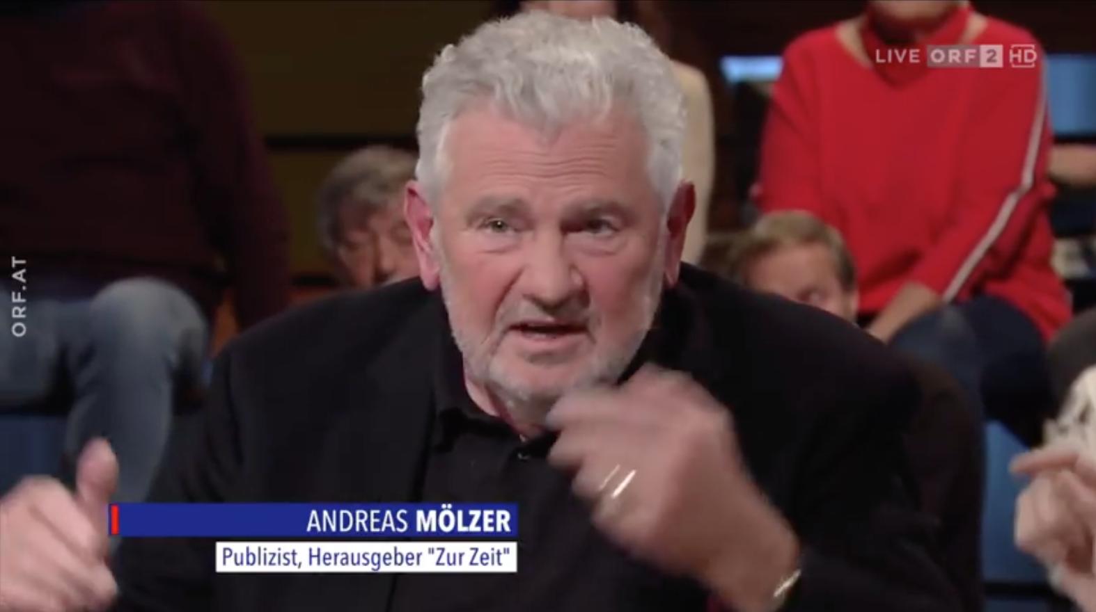 """Andreas Mölzer in """"Im Zentrum"""" 7.4.19 (""""Der rechte Rand und die Politik"""")"""