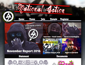 "Homepage der ""national action"""
