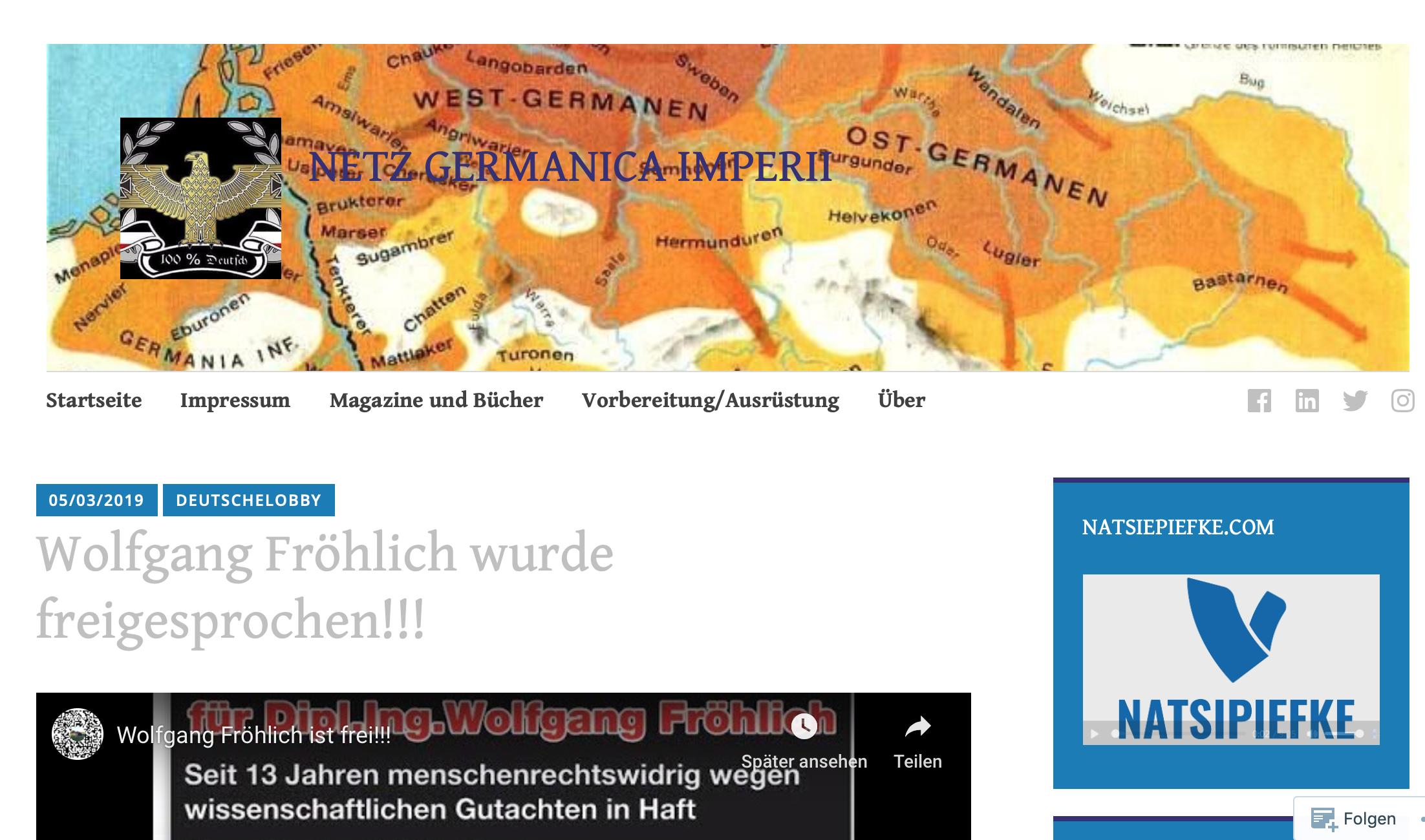 """""""Netz Germanica Imperii"""" teilt Video des """"Thing-Kreis Themar"""" zu Fröhlichs Haftentlassung"""