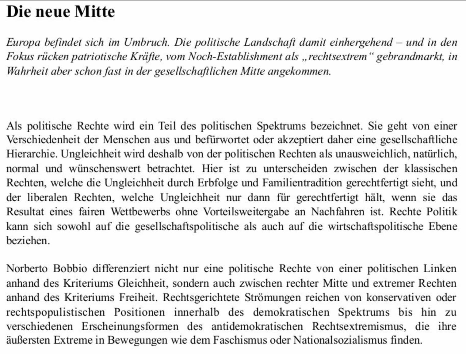 """K3-""""Studie"""" zu """"Die neue Mitte"""" – kopiert aus Wikipedia"""