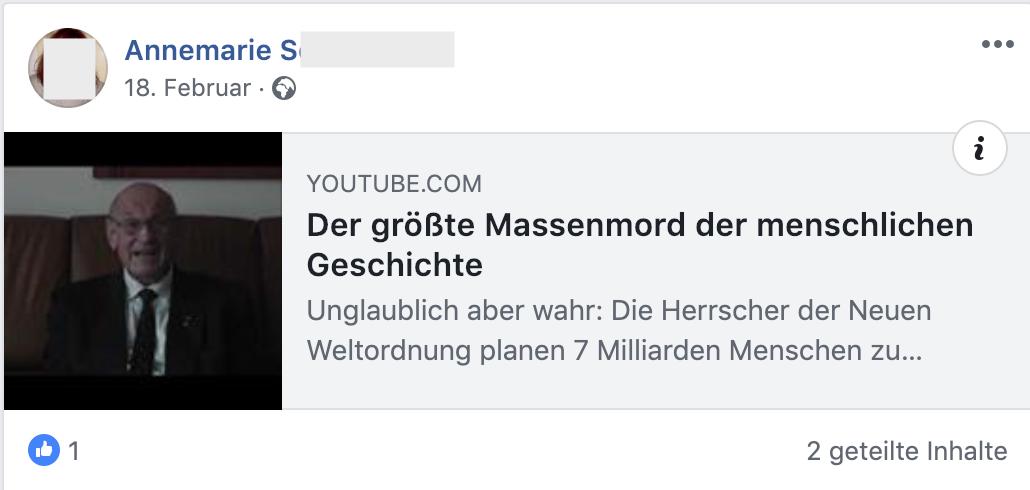 """""""NWO – Der größte Massenmord der menschlichen Geschichte"""" (FB 18.2.19)"""