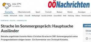 Oberösterreichische Nachrichten: Faktencheck Strache Sommergespräch 2015