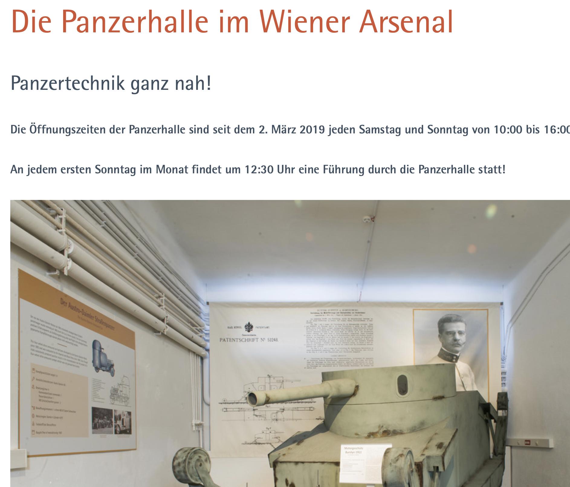 Panzerhalle auf der Website des HGM
