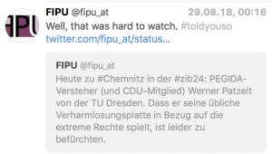 PEGIDA-Versteher Werner Patzelt bei der ZiB 24 zu Chemnitz