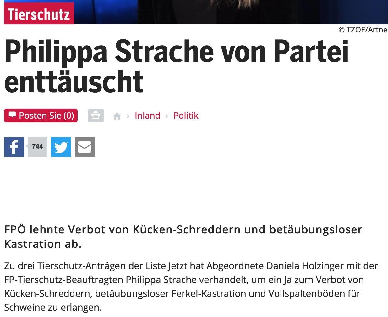 """Philippa Strache in oe24.at 14.6.19: """"von Partei enttäuscht"""""""