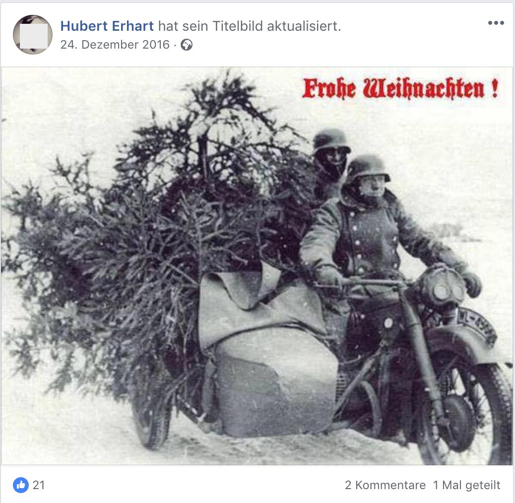 """Erhart wünscht mit dem Sujet """"Deutsche Weihnacht 1940 Weihnachtsringsendung"""" 2016 """"Frohe Weihnachten"""""""