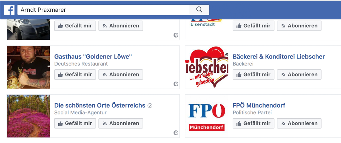 "Arndt Praxmarer likt das Neonazi-Gasthaus ""Goldener Löwe"" (Screenshot FPÖ-Fails)"