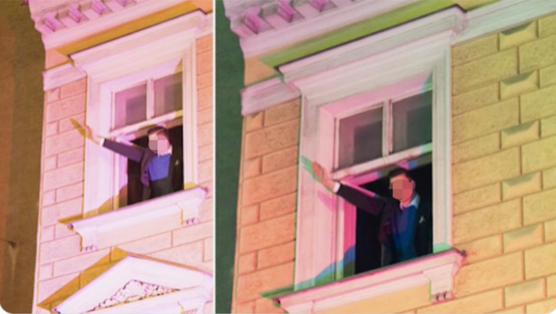 Die Geste am Fenster