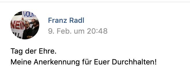 """Radl zum """"Tag der Ehre"""" Budapest 2020 (Screenshot vk.com)"""