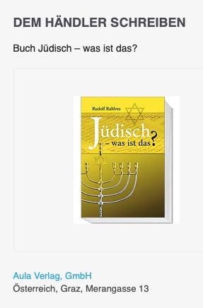 """Rudolf Rahlves """"Jüdisch – was ist das?"""" beim Aula-Verlag"""
