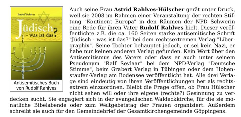 Rudolf Rahlves als antisemitischer Autor