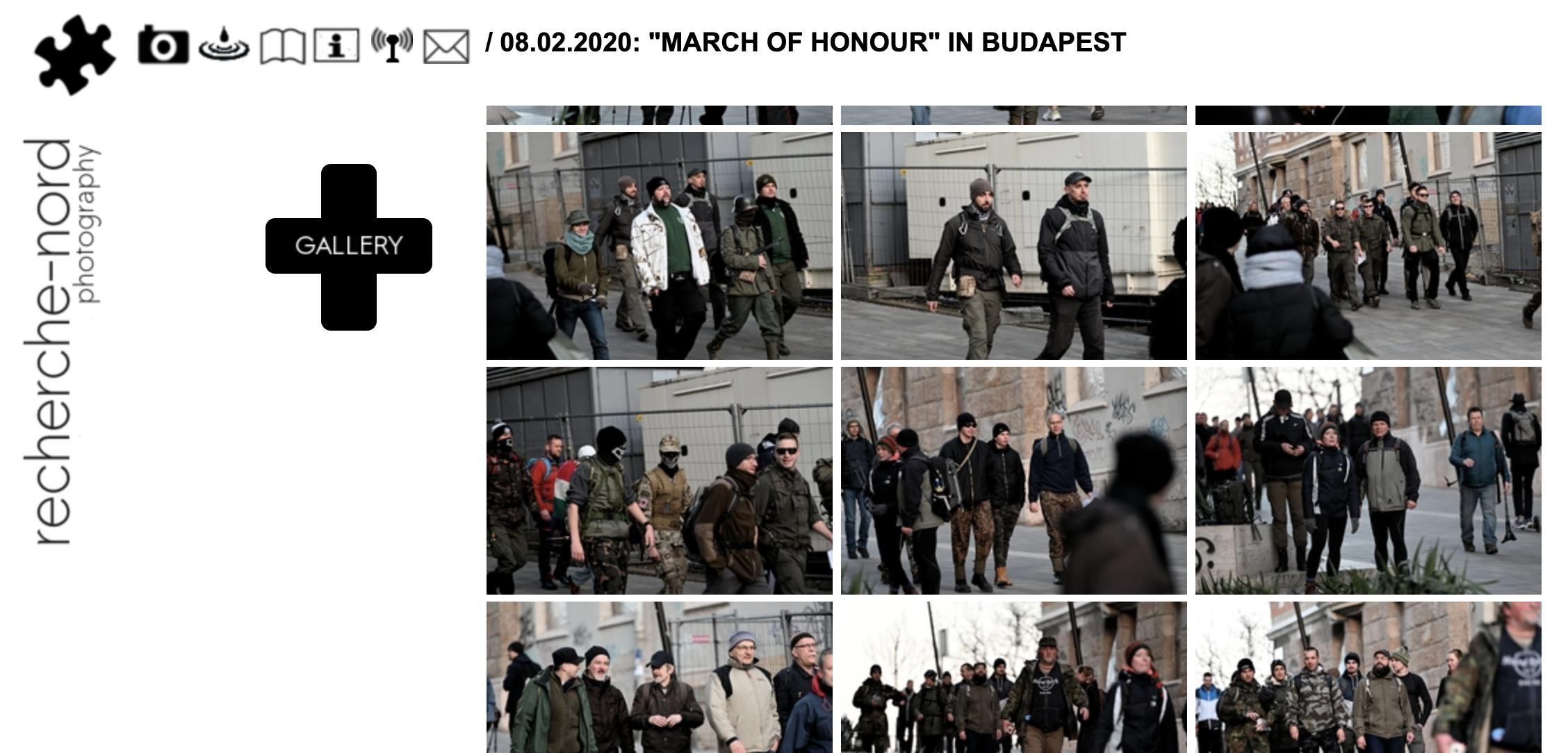recherche-nord Fotogalerie Budapest 8./9.2020 belegt österreichische Beteiligung (Screenshot)