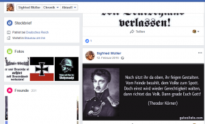 Nazi mit Fake-Zitat von Körner