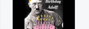 """Schardinger gratuliert zu Hitlers Geburtstag mit Torte """"Happy Birthday Adolf!"""""""