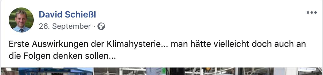 """Schießl: """"Klimahysterie"""""""