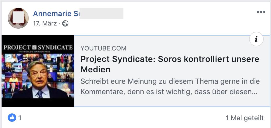 """Soros kontrolliert unsere Medien"" (FB 17.3.19)"