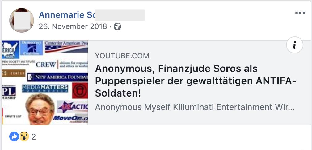 """""""Finanzjude Soros"""" (Fb 26.11.18)"""