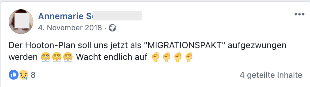 Hooton-Plan als Migrationspakt (FB 4.11.18)