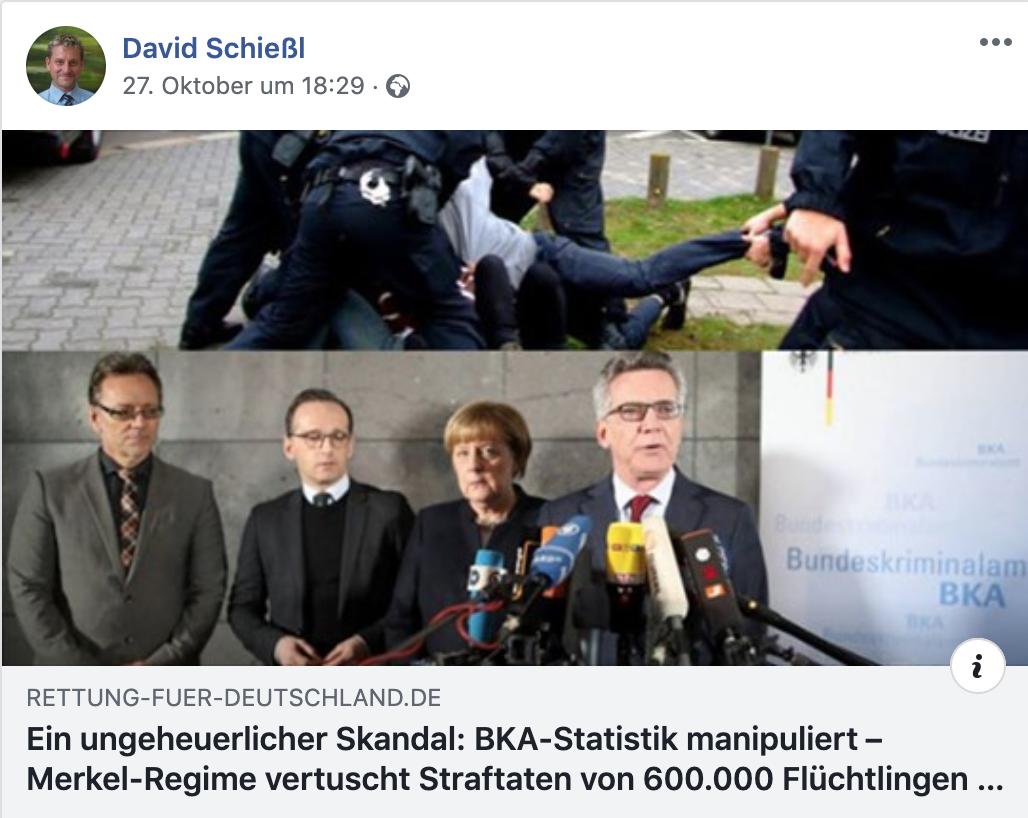 """Schießl teil vom rechts-verschwörungstheoretischen Blog """"Rettung für Deutschland"""""""