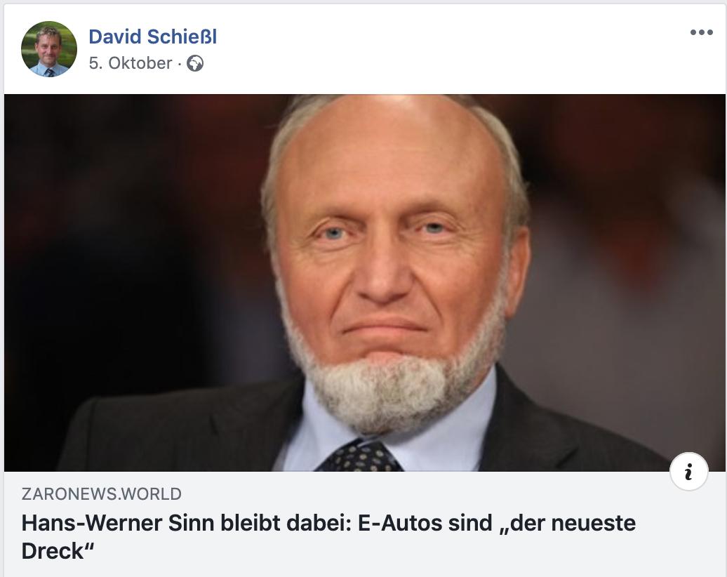 """Schießl teilt von """"zaronews"""""""