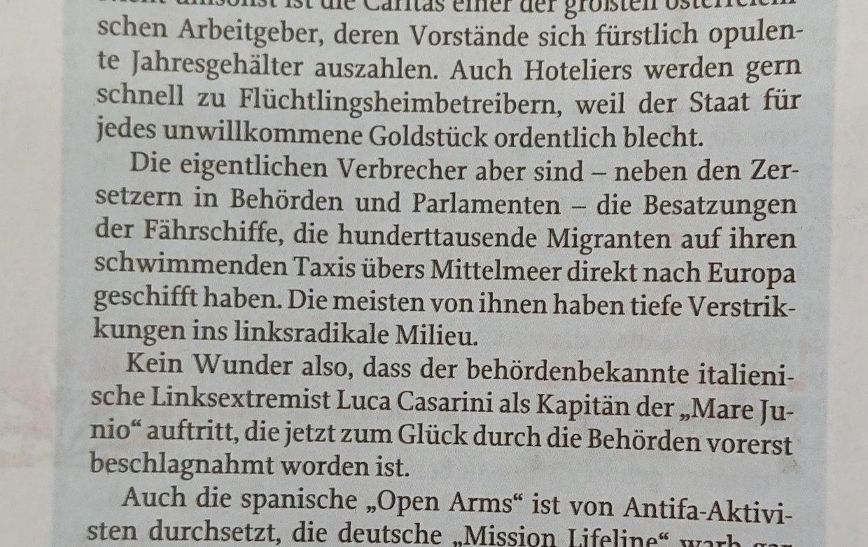 """Alexander Schleyer in """"Zur Zeit"""": Schiffe versenken"""