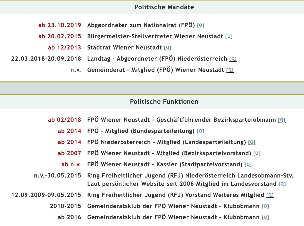 Michael Schnedlitz: Multifunktionär mit saftigen Nebeneinkünften (Meine Abgeordneten)