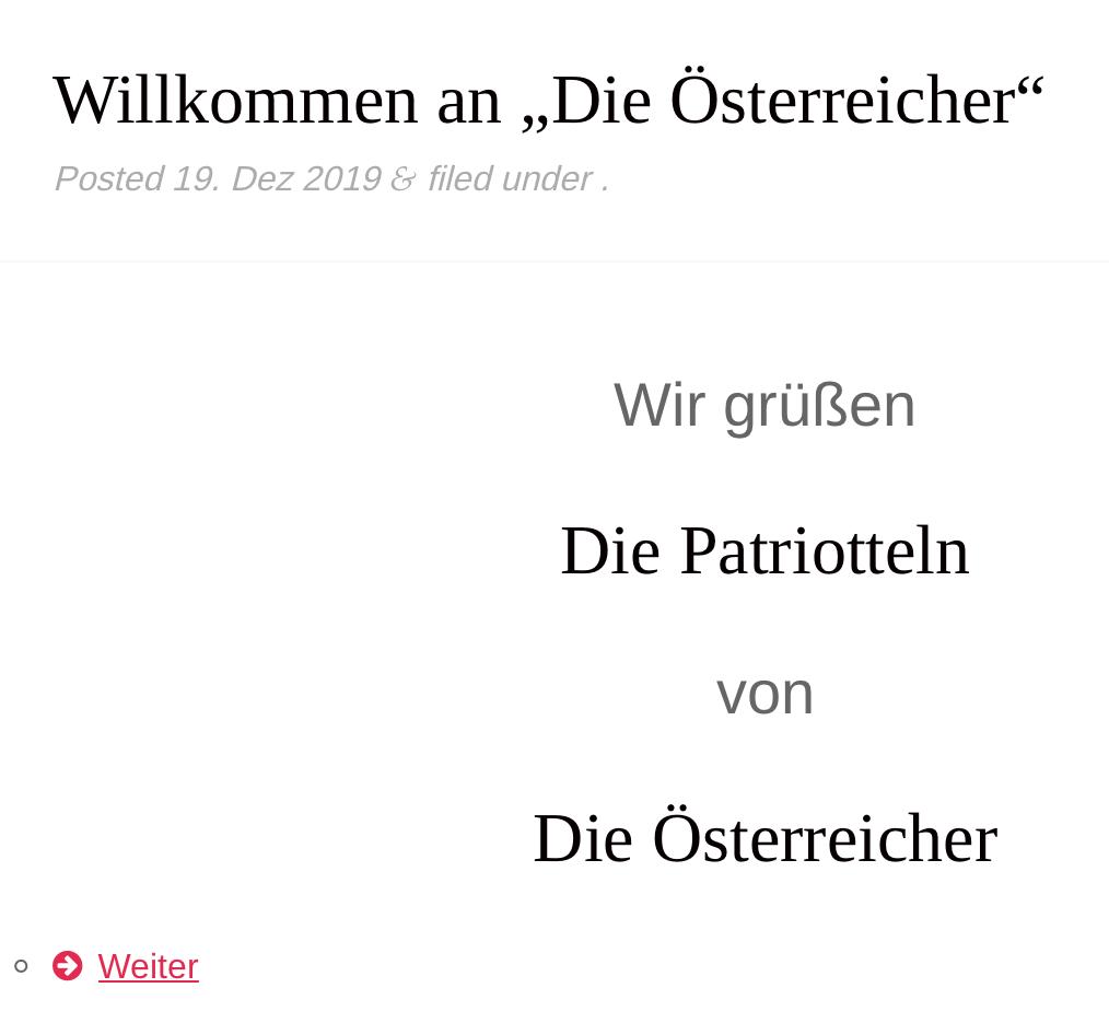 """SdR-Umleitung von """"Die Österreicher"""""""