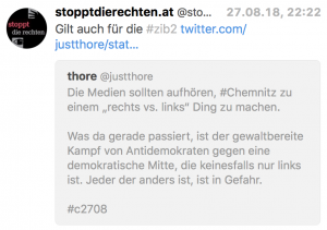 "Twitter – Demonstration in Chemnitz: nicht ""rechts vs. links"""