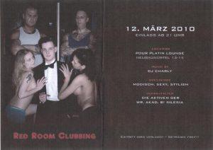 Einladung zum Clubbing der Silesia (in der Mitte der Silese Benjamin F.)