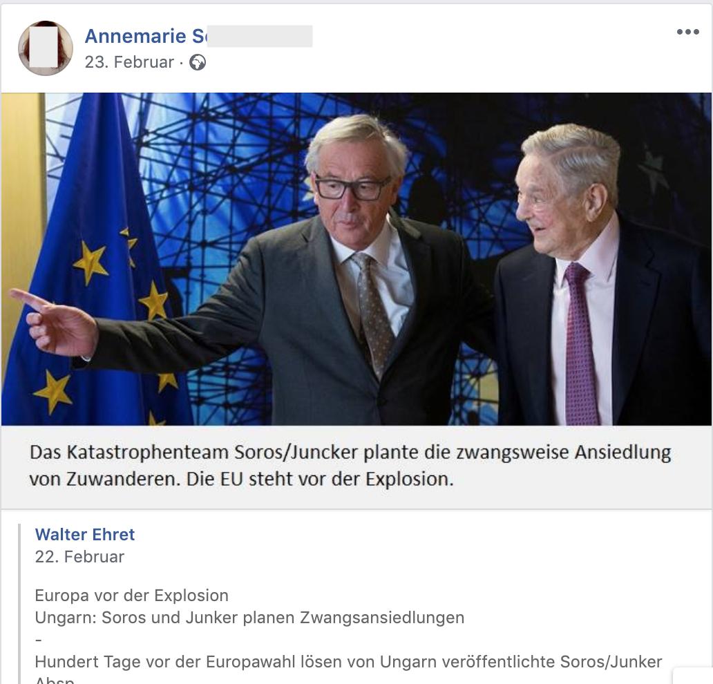 """Das Katastrophenteam Soros/Juncker"" (FB 23.2.19)"